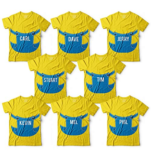 Minions Character Costume Name Funny Halloween Costume Matching Group Outfit Customized Handmade T-Shirt Hoodie/Long Sleeve/Tank -