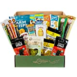 GlutenFreePalace.com Keto Snack Box - Gluten Free & Low Carb Snacks [20 Count] Keto Bars, Beef Sticks, Hummus, Crisps, Nuts & Seeds - Keto Gift Baskets, College Care Package by Snack Attack, 20 Count