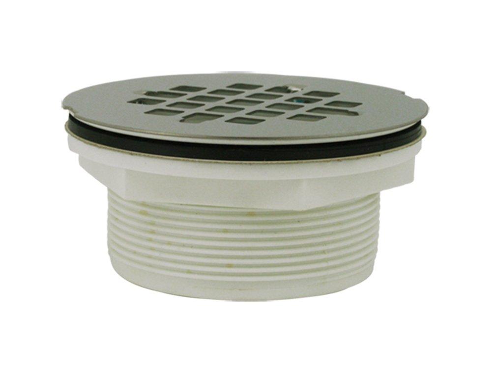 Plumbest d inch plastic no caulk shower drain with