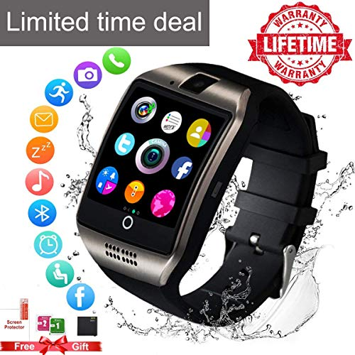 Watch Phone Cell Camera (Smart Watch for Android Phones,Android Smartwatch Touchscreen with Camera,Smart Watches with Text,Bluetooth Watch Phone with SIM Card Slot Watch Cell Phone Compatible Android iOS Men Women Youth)