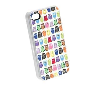 Owl Owl Owl - iPhone 4/4s Glossy White Case