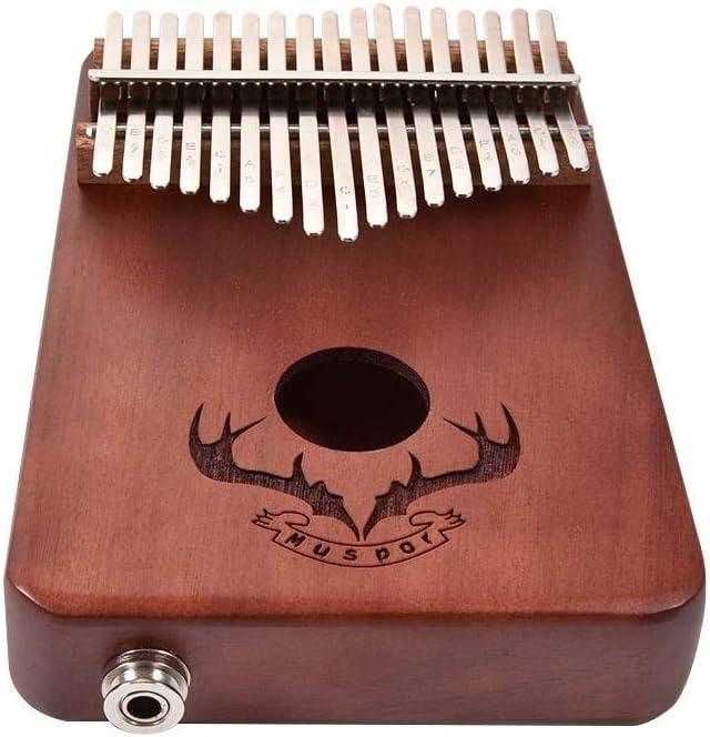 Makluce Creative Christmas New 17-Key Steel Solid Wood Thumb Piano Set Regalo De Cumplea/ños Entretenimiento Juguetes