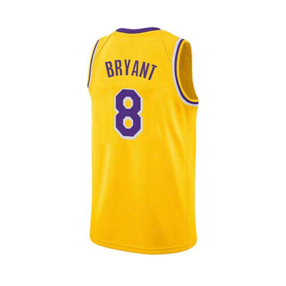 Ati nice Basketball-Trikots Lakers # 8 Kobe Bryant Retro Basketball /ärmellose Sportbekleidung Fan Shirt Weste Sommer atmungsaktive Sportuniformen,XS170cm