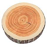 BQLZR Log-shaped Head Rest Pillow Decorative Wood Columns Novelty 36 x 17.8cm