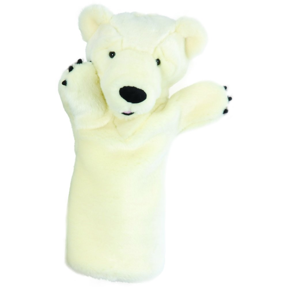 teacher classroom polar bear hand puppet