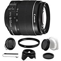 Canon EF-S 18-55mm f/3.5-5.6 IS II Lens with 58mm UV Filter and Cap Holder for Canon EOS 550D 500D 450D 400D