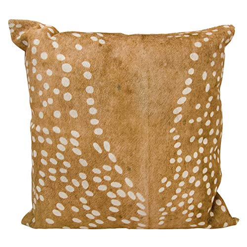 - MISC Deer Spot Print Pillow Animal Hide, Beige Spots Design Forest Animals Theme Accent Throw Pillow, Rustic Cabin Lodge Ranch Hunting Brown Deers Indoor Cushion Large Size 20