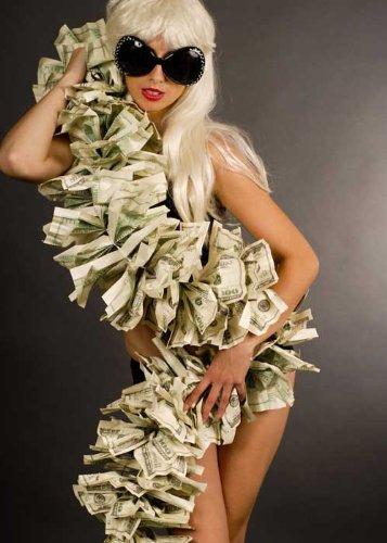 Lady Gaga Style Pop Star Money Boa Magic Box