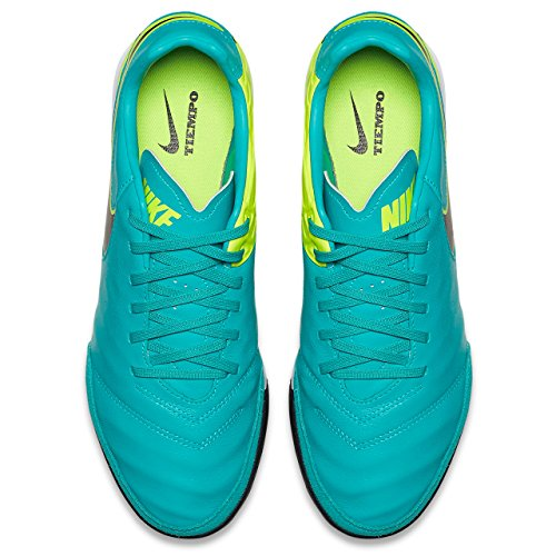 NIKE Mens Mystic V TF Turf Soccer Shoe Clear Jade/Black/Volt U4S6ed