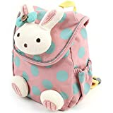 Pumud 3d Animal Rabbit Anti-lost Baby Backpack Toddler Kids School Bag (Pink)