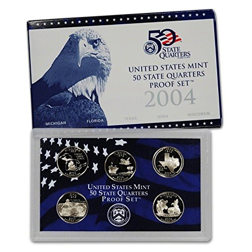 2004-S Proof State Quarter 5-pc. Set With Box and COA