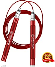Sonic Boom M2 High Speed Jump Rope - Patent Pending Self-Locking, Screw-Free Design – Weighted, 360 Degree Spi