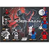 Rapoos Lot of 8 Sets Amazing Spiderman Minifigures Building Blocks Toys Compatible with Lego