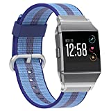 SnowCinda For Fitbit Ionic Bands, Release Sports Woven Nylon Bracelet Strap Band for Fitbit Ionic Women Men