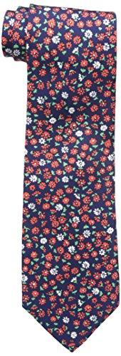 Tommy Hilfiger Men's Flower Field Tie, Red, One Size