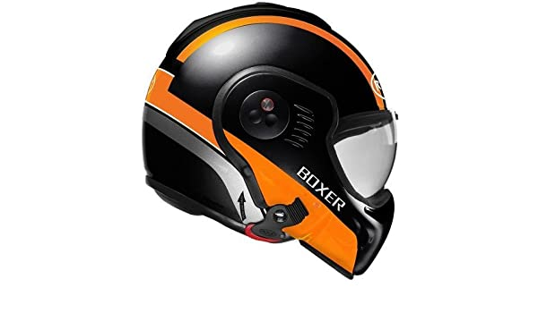 Amazon.es: Roof Casco Boxer V8 manga Negro de color naranja de mate, talla M (58)