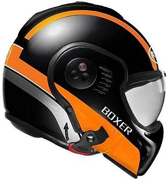 Roof Casco Boxer V8 manga Negro de color naranja de mate, talla M (58