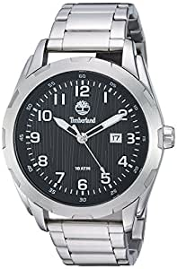 Timberland Men's 'NEWMARKET' Quartz Stainless Steel Dress Watch, Color:Silver-Toned (Model: TBL13330XS02M)