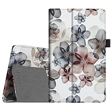 Fintie Folio Case for All-New Amazon Fire HD 8 (6th Generation, 2016 release), Slim Fit Premium Vegan Leather Standing Cover Auto Wake/Sleep for Fire HD 8 Tablet (2016 6th Gen Only), Floral Indigo