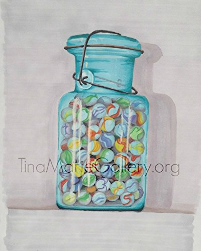Marbles in a Jar by Tina Birkhoff by Tina Marie Gallery