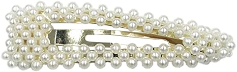 Women Bridal Vintage Faux Pearl Wrapped BB Hairpins Glitter Gold//Silver HairClip