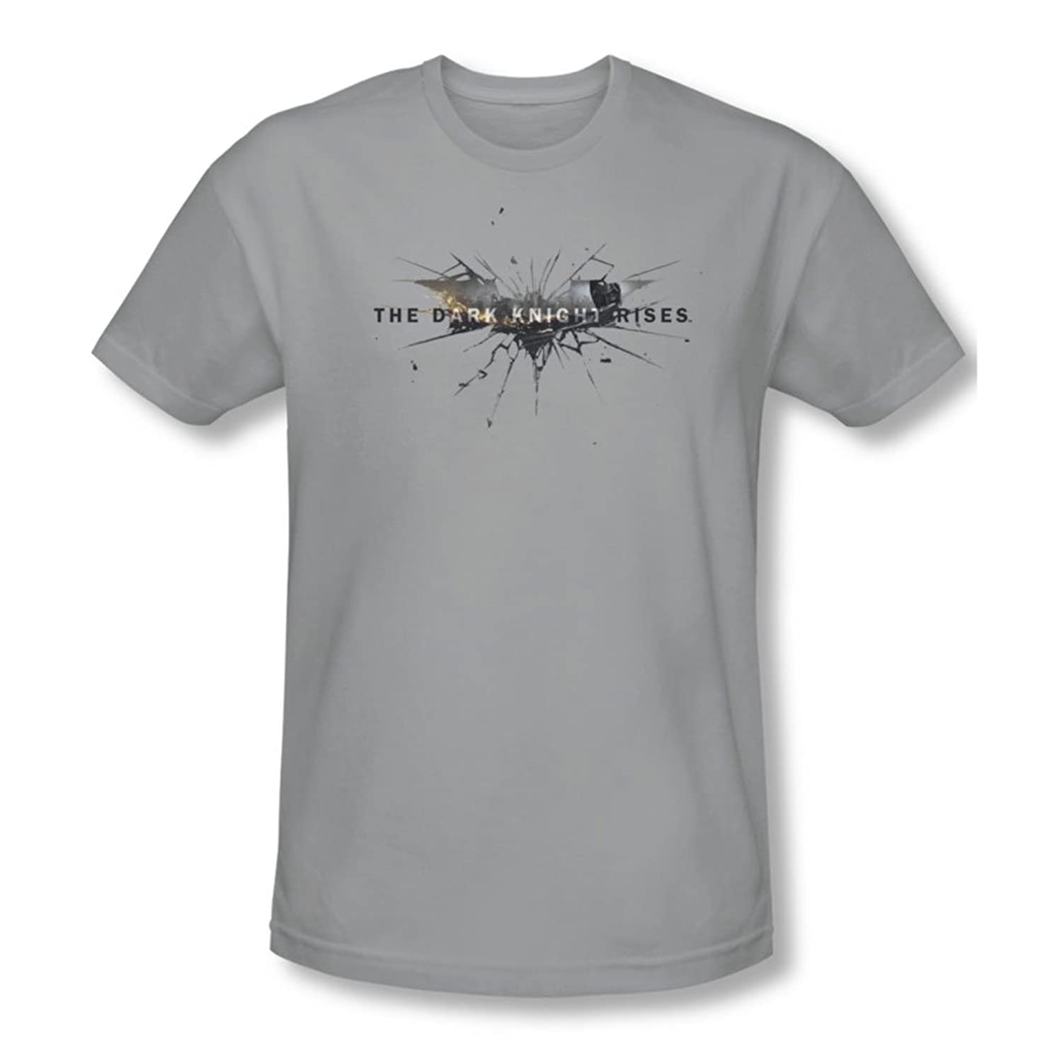 Batman: Dark Knight Rises - Mens Rise Logo T-Shirt In Silver