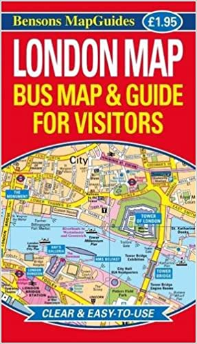 Easy London Map.London Map Bus Map And Guide For Visitors Amazon Co Uk Bensons