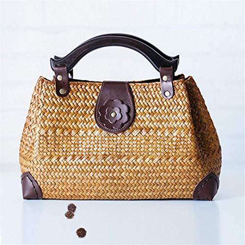 Stati Thai Uniti Rattan colore AM02 vacanze e Europa Versione pacchetto Vento Kafei Mango le Yuan Legno Travel Eeayyygch Bag Beach XwzrYX