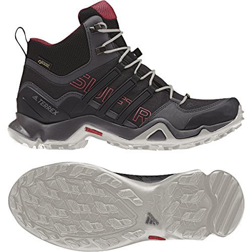 adidas outdoor Women's Terrex Swift R Mid GTX W Shoes, Dark Grey/Black/Super Blush, 9.5 B - Medium