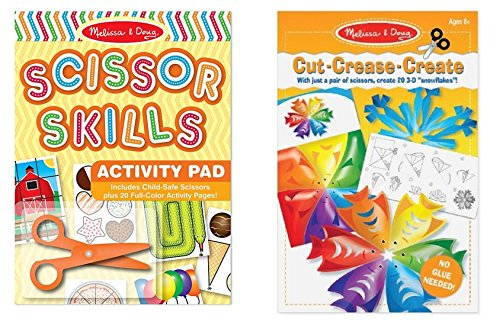 - Melissa & Doug Scissor Skill Activity Pad and Cut Crease Create 3-D Sculpture Snowflakes