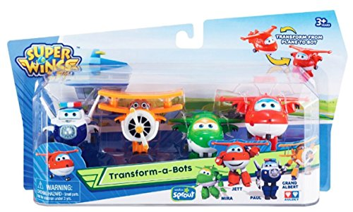 Large Product Image of Super Wings - Transform-a-Bots 4 Pack | Jett, Paul, Mira, Grand Albert | Toy Figures | 2