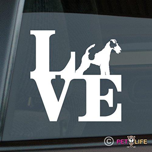 Smooth Fox Terrier Sticker - Mister Petlife Love Fox Terrier Sticker Vinyl Auto Window park smooth wire