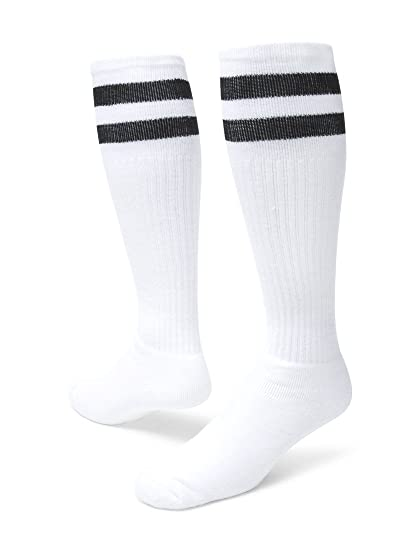 9f1798fa930 Red Lion Old School Classic Two Stripe Athletic Socks ( White ...