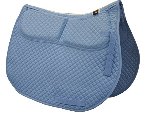 English Foam Saddle Pad - ECP Cotton Correction All Purpose Saddle Pad (Light Blue)