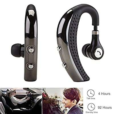SHareconn Bluetooth Headphones V4.0 Wireless Headset Sweat Proof Earbuds Noise Isolating Sport Earphones for Exercise/Running/Gym with Mic Stereo Sound for Apple Iphone, Samsung, Lg, Pc Laptop
