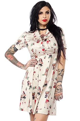 Sourpuss Hula Gals Rosie Dress - Indie Clothing Vintage Inspired