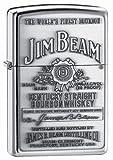 Zippo Jim Beam Bourbon Label Emblem Pocket Lighter, High Polish Chrome