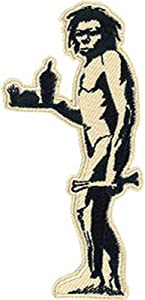 Banksy's Graffiti Fast Food Caveman Patch - Graffiti Artist Banksy Embroidered Iron-On/Sew-On Patch - 2