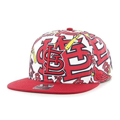 MLB St. Louis Cardinals Bravado Captain Adjustable Snapback Hat, One Size, White (Snapbacks Amazon)