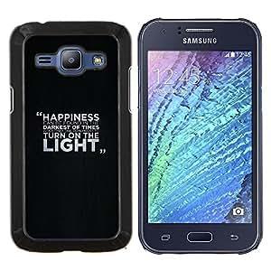 TECHCASE---Cubierta de la caja de protección para la piel dura ** Samsung Galaxy J1 J100 ** --Felicidad Mensaje