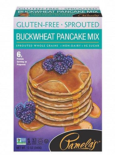 Vegan Pancake Mix - Pamela's Products Gluten Free Sprouted Pancake Mix, Buckwheat, 12 Ounce