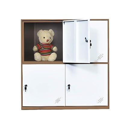 Amazon.com : 4 Door Small Bedroom Furniture, Metal Locker with Cloth ...