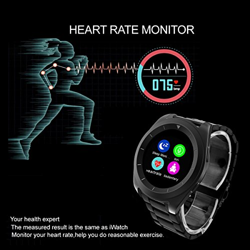 NO.1 G6 Bluetooth Smart Watch Heart Rate Smartwatch ( Heart Rate Monitor, Pedometer, Sleep Monitor, Notifications, Sedentary Reminder, Search Device & Anti lost for ios Android )