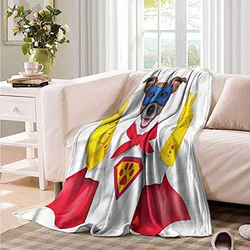 Oncegod Soft Warm Coral Fleece Blanket Superhero Funny Hero Dog Cape Humor Bedding Throw, or Blanket Sheet 93
