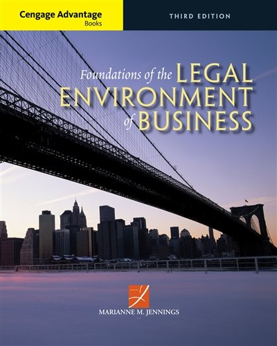 Cengage Advantage Books: Foundations of the Legal Environment of Business cover