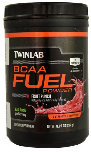 Twinlab BCAA FuelT Powder Fruit Punch -- 30 Servings - 3PC by Twinlab