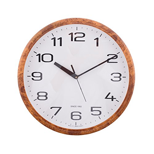 eCraftindia Decorative Retro Round Orange Wall Clock