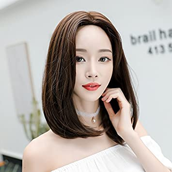 Short Hair Shoulder Length Wig Hair Round Face Carved In The Long