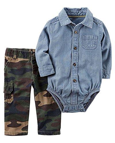 - Carter's Baby Boy's Camo 2-Piece Bodysuit & Cargo Pant Set 3 Months