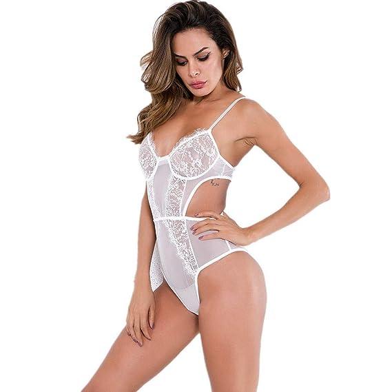 f7d7efdd1a75 K-Youth® Mujer Conjunto de Lencería Body para Mujer Perspectiva Sexy ...